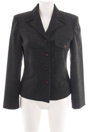 Grace Karin Blazer en laine noir moucheté style d'affaires