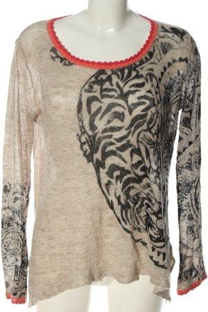 Grace Linnen blouse prints met een thema casual uitstraling