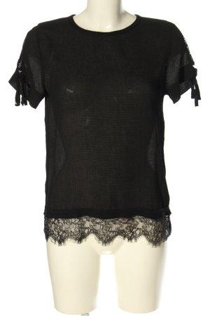 Grace & Mila Schlupf-Bluse schwarz Casual-Look