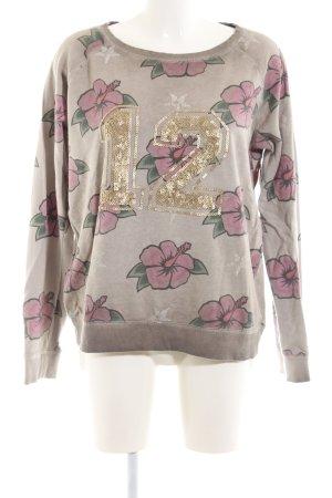 Grace Sweatshirt Blumenmuster Casual-Look