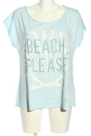Grace T-Shirt türkis-weiß Casual-Look