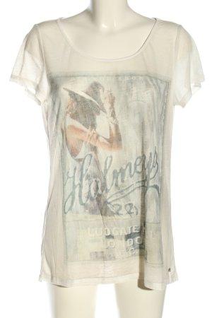Grace T-Shirt wollweiß-hellgrau Casual-Look