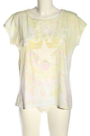 Grace T-Shirt wollweiß-blassgelb abstraktes Muster Casual-Look