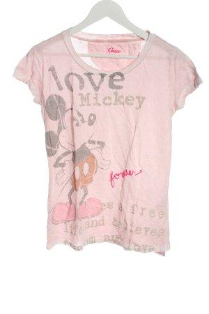 Grace T-Shirt pink Motivdruck Casual-Look