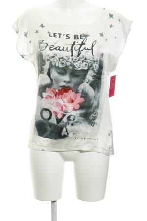 Grace T-Shirt Motivdruck Casual-Look