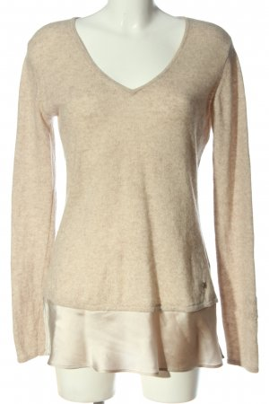 Grace Wool Sweater cream flecked casual look