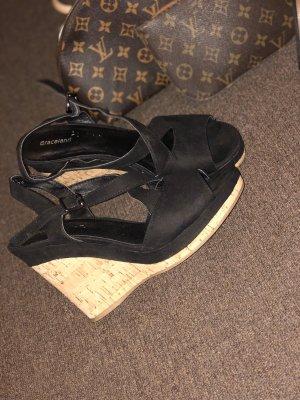 Graceland Platform High-Heeled Sandal black-nude