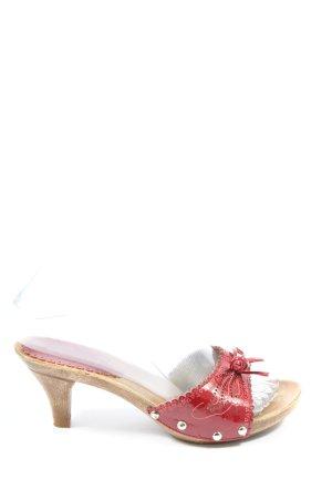 Graceland Sandalo con tacco rosso stile casual