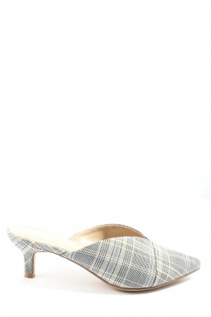 Graceland Zomerschoenen met hak lichtgrijs-wolwit volledige print elegant
