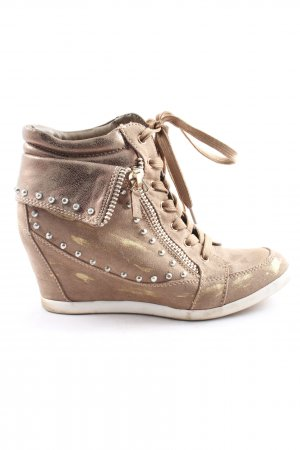 Graceland Heel Sneakers natural white-gold-colored casual look