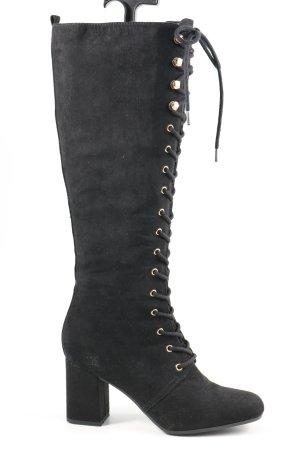 Graceland Absatz Stiefel schwarz Elegant
