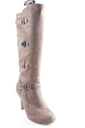 Graceland Absatz Stiefel graubraun Casual-Look