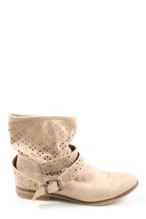 Graceland Botas de tobillo crema look casual