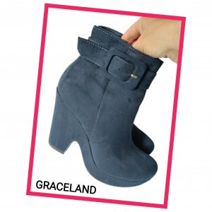 Graceland Ankle Boots Gr. 37 Dunkelblau - Neuwertig