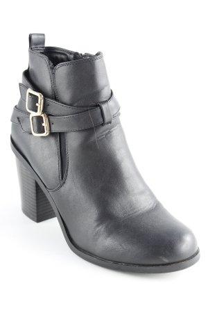 Graceland Ankle Boots schwarz schlichter Stil
