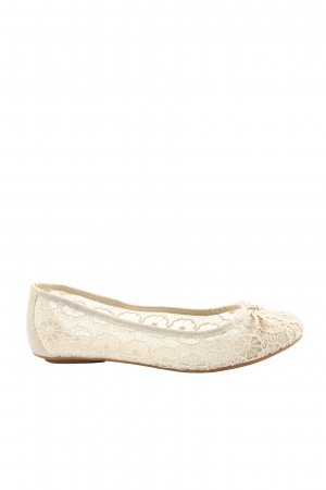 Graceland Ballerina's met kant wolwit casual uitstraling