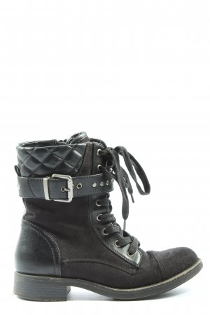 Graceland Booties schwarz Steppmuster Casual-Look