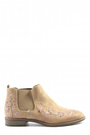 Graceland Booties creme Blumenmuster Casual-Look