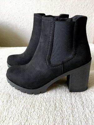 Graceland Chelsea Stiefeletten Boots Booties schwarz Gr. 37