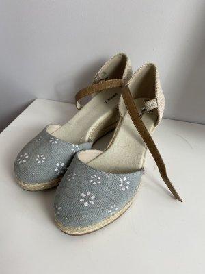 Graceland Espadrille sandalen licht beige-azuur Gemengd weefsel