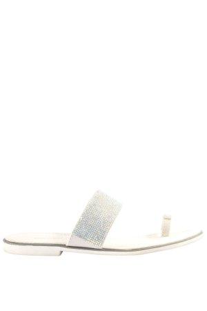 Graceland Sandalo toe-post bianco stile casual