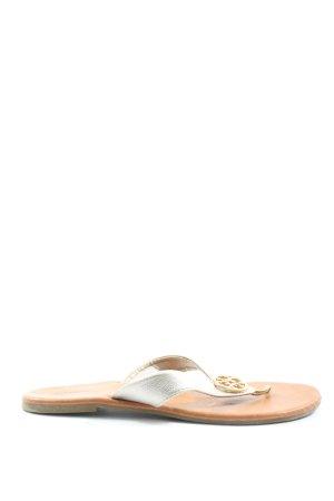 Graceland Sandały japonki srebrny-brązowy W stylu casual