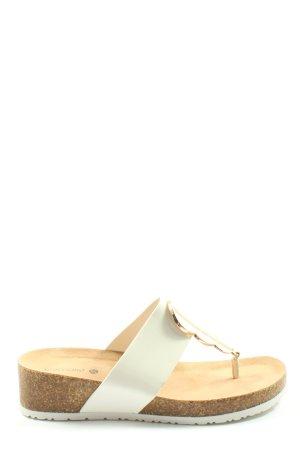 Graceland Sandales Dianette blanc-brun style décontracté