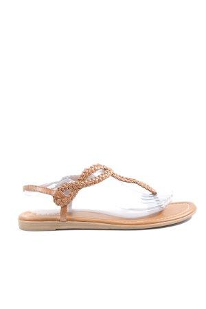 Graceland Sandalo toe-post bianco sporco stile casual