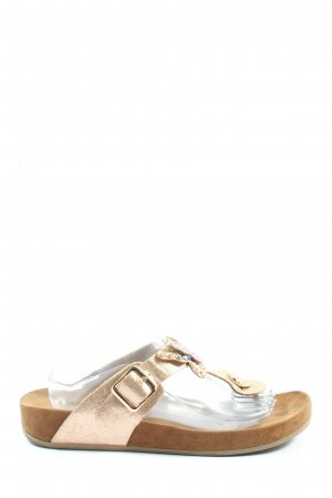 Graceland Dianette-Sandalen goldfarben-nude Casual-Look