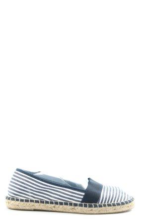 Graceland Alpargatas azul-blanco estampado a rayas look casual