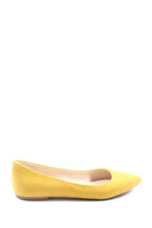 Graceland Ballerines pliables jaune primevère style décontracté