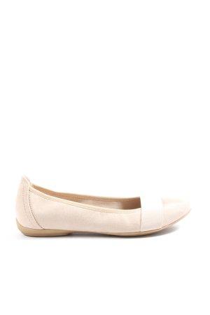Graceland faltbare Ballerinas wollweiß Business-Look