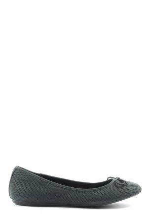 Graceland Bailarinas plegables negro look casual