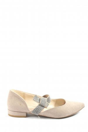 Graceland Mary Jane Ballerinas wollweiß-silberfarben Elegant