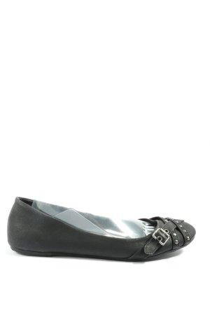 Graceland Składane baleriny czarny W stylu casual