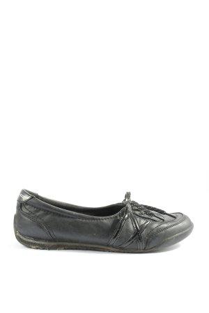 Graceland Ballerines pliables noir style décontracté