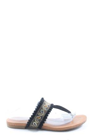 Graceland Flip Flop Sandalen schwarz abstraktes Muster Casual-Look