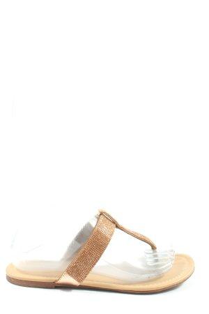 Graceland Flip Flop Sandalen creme-braun Casual-Look