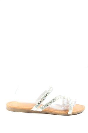 Graceland Flip-Flop Sandals cream-silver-colored casual look