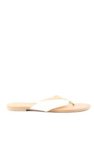 Graceland Flip Flop Sandalen weiß-nude Casual-Look