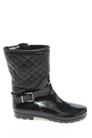 Graceland Wellington laarzen zwart quilten patroon casual uitstraling