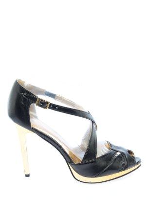 Graceland Hoge hakken sandalen zwart-goud casual uitstraling