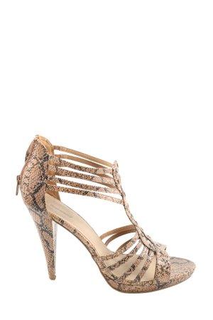 Graceland High Heel Sandaletten braun-schwarz Animalmuster Casual-Look