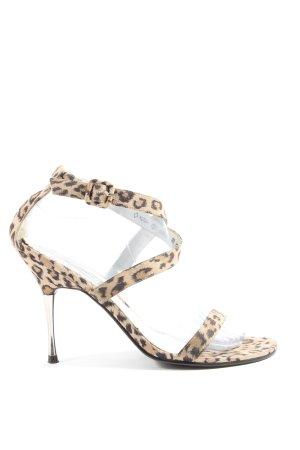 Graceland High Heel Sandaletten creme-schwarz Allover-Druck Elegant