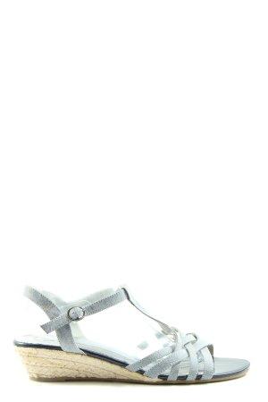 Graceland High Heel Sandaletten hellgrau-creme Casual-Look