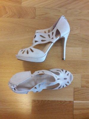 Graceland High Heel Sandaletten beige/silbern