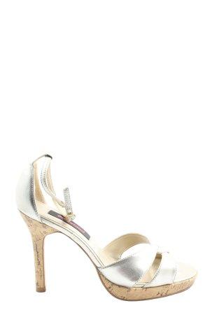 Graceland High Heel Sandaletten silberfarben Elegant