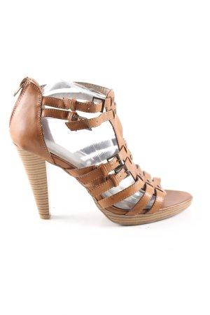 Graceland High Heel Sandaletten braun Casual-Look