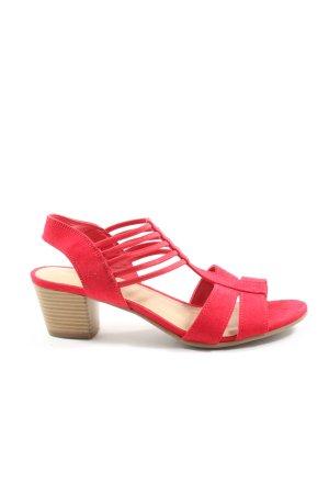Graceland Hoge hakken sandalen rood casual uitstraling