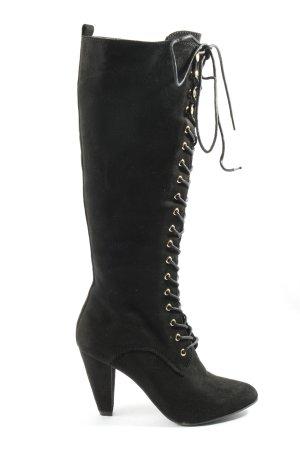 Graceland Wysokie buty na obcasie czarny W stylu casual